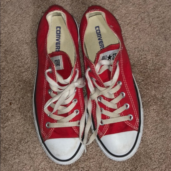Converse Shoes   Red Converse   Poshmark
